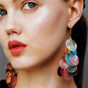 Zara Seashell Disc Colorful Earrings